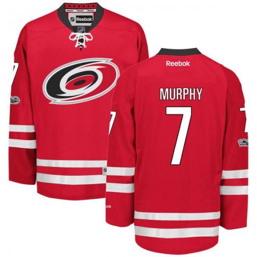 Ryan Murphy Carolina Hurricanes Men's Reebok Authentic Red Home Centennial Patch Jersey