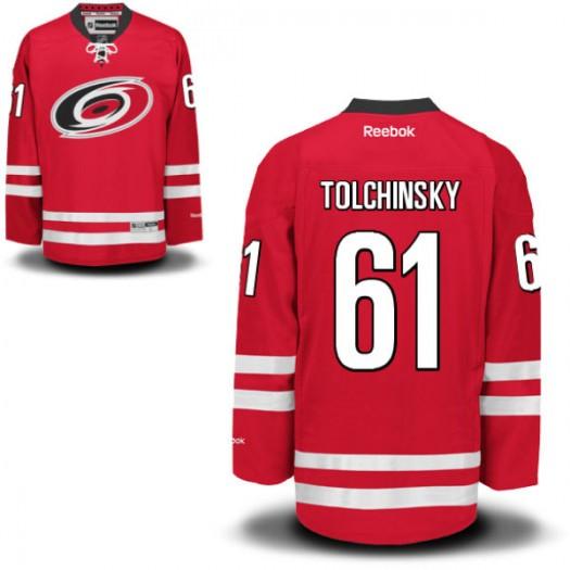 Sergei Tolchinsky Carolina Hurricanes Youth Reebok Premier Red Home Jersey