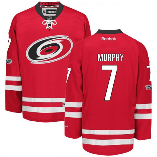 Ryan Murphy Carolina Hurricanes Youth Reebok Premier Red Home Centennial Patch Jersey