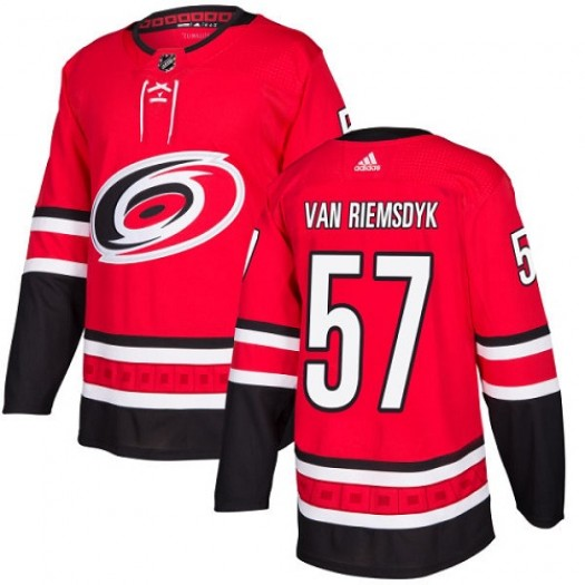 Trevor Van Riemsdyk Carolina Hurricanes Men's Adidas Authentic Red Jersey