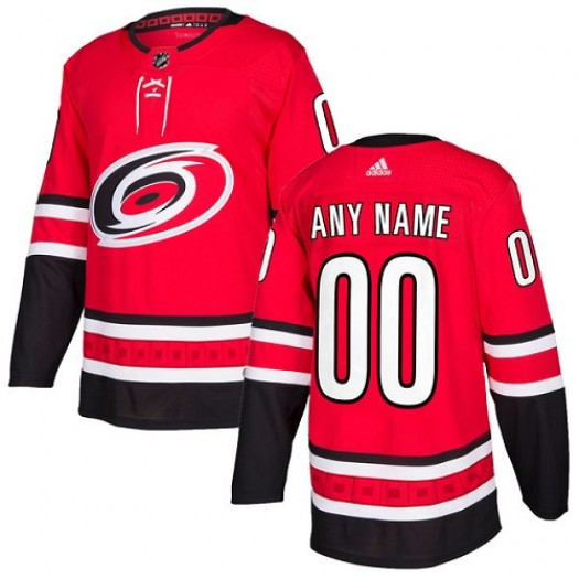 Women's Adidas Carolina Hurricanes Customized Authentic Red Home Jersey