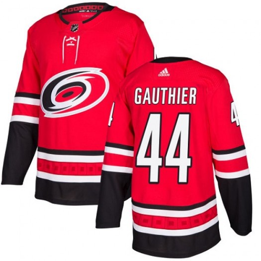 Julien Gauthier Carolina Hurricanes Youth Adidas Authentic Red Home Jersey