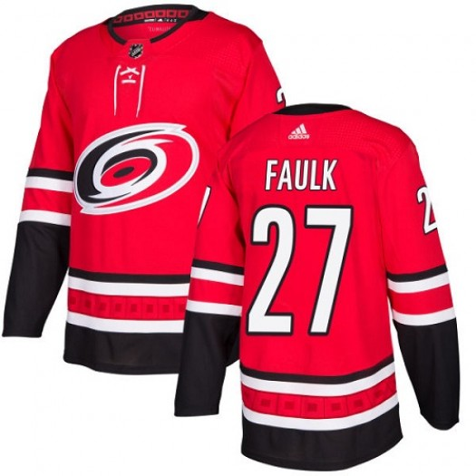 Justin Faulk Carolina Hurricanes Youth Adidas Authentic Red Home Jersey