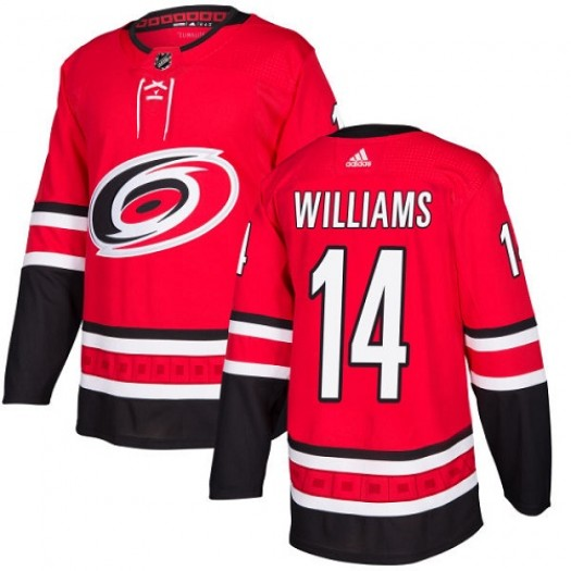 Justin Williams Carolina Hurricanes Youth Adidas Authentic Red Home Jersey