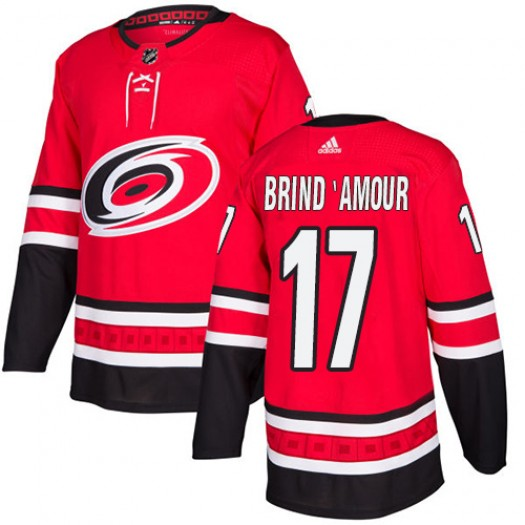 Rod Brind'Amour Carolina Hurricanes Youth Adidas Authentic Red Home Jersey