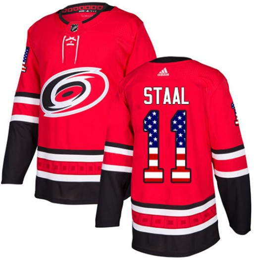 Jordan Staal Carolina Hurricanes Youth Adidas Authentic Red USA Flag Fashion Jersey